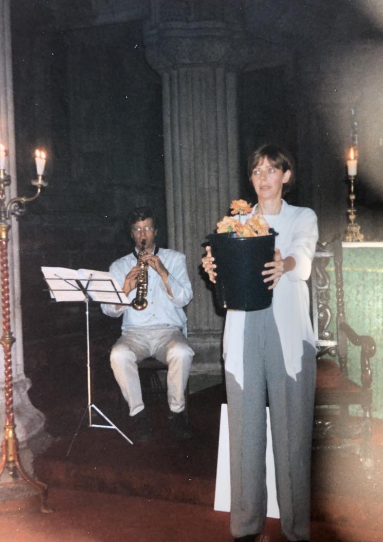 Performing Still Life in the Roslin Chapel outside of Edinburgh.