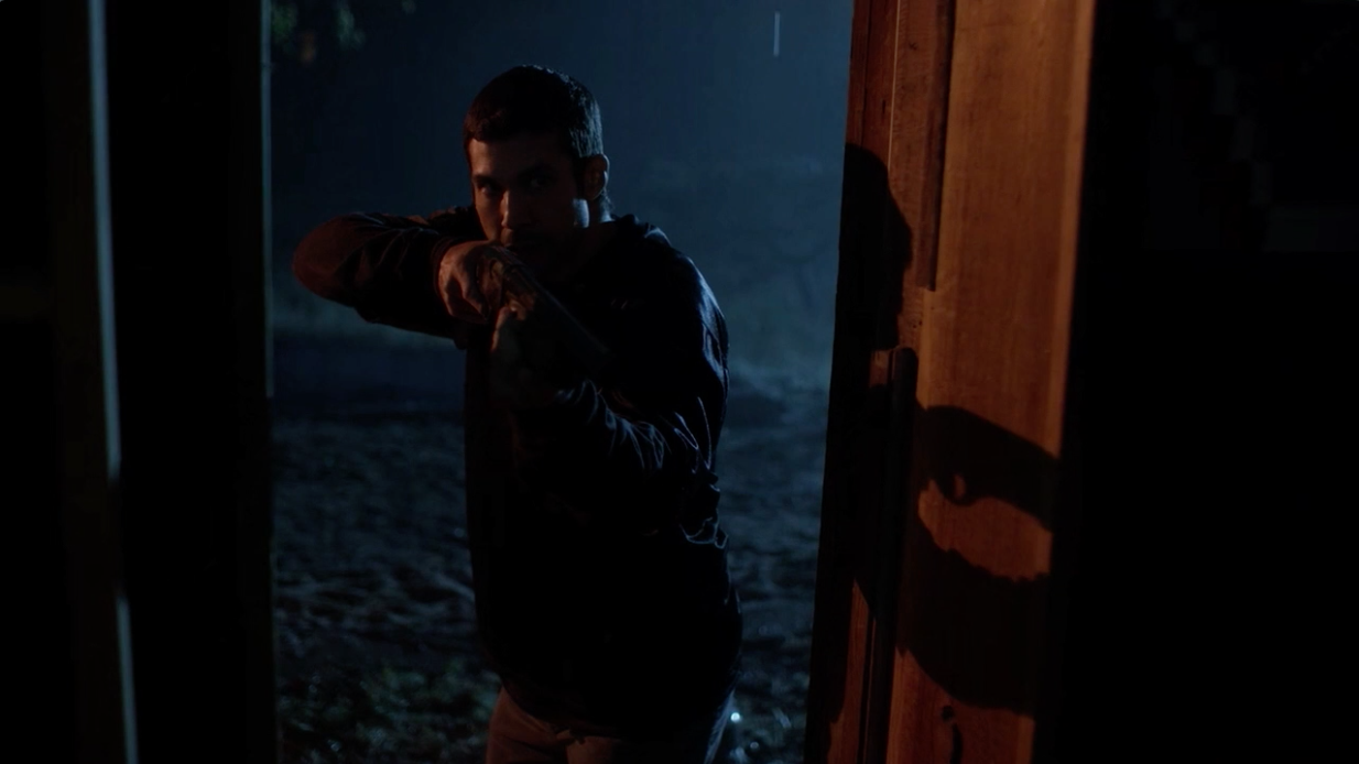 Rayford's Action shot from Longmire