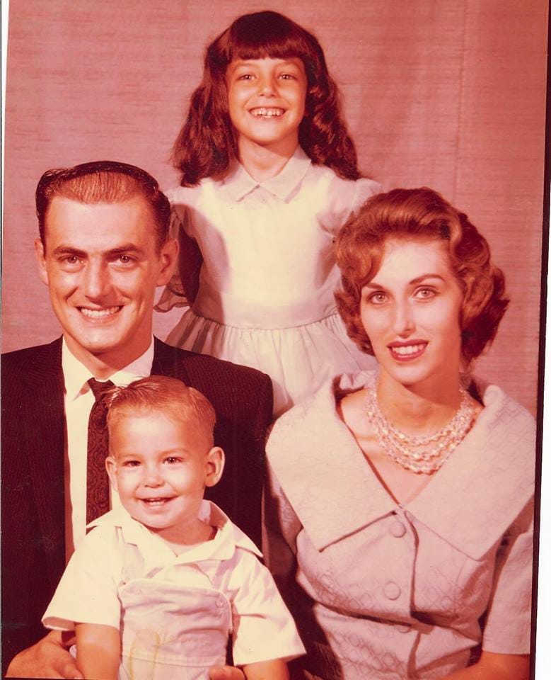 James with his family, age 2