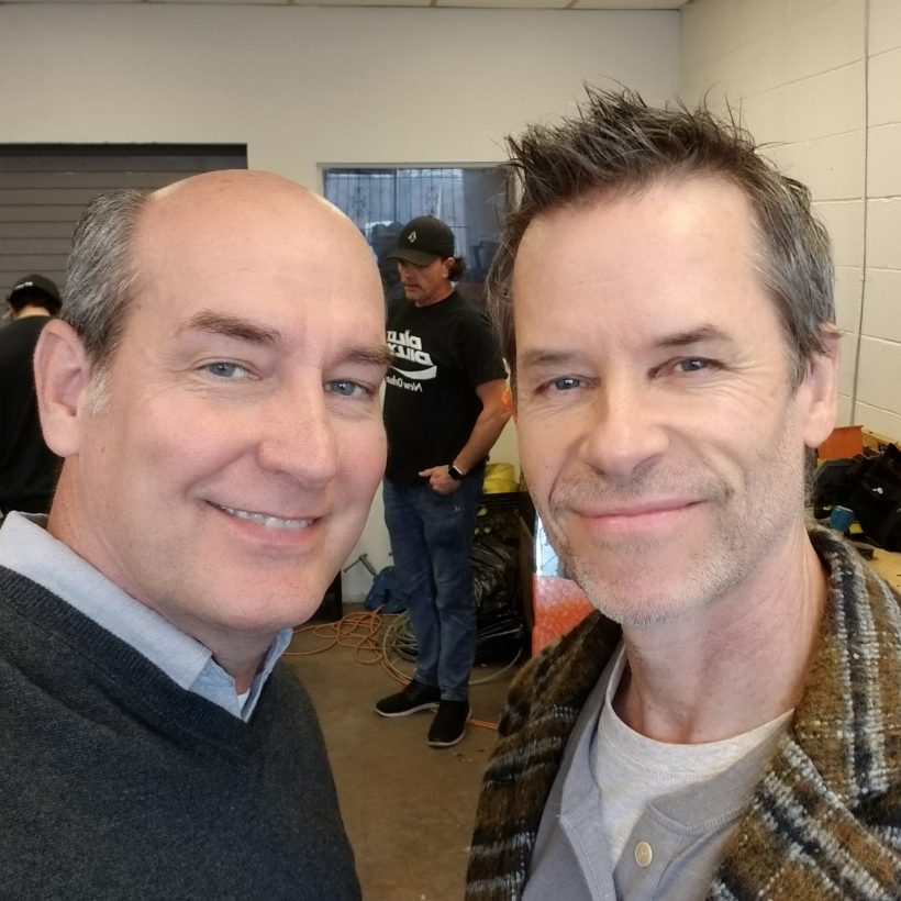 James with Guy Pearce